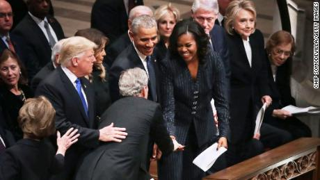 Michelle Obama Bush Share Sweet Moment Cnn Video