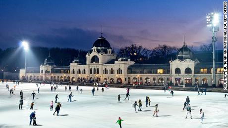 Sd Skating On Budapest S Festive Ice Rink