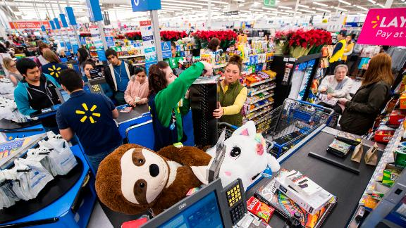 Walmart stores have seen a series of mysterious acts of  generosity in recent weeks.