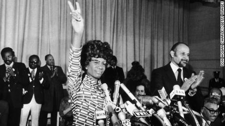 Rep. Shirley Chisholm announces her candidacy for the Democratic nomination for the presidency at the Concord Baptist Church in Brooklyn in 1972.