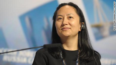 A file photograph of Meng Wanzhou in 2014.