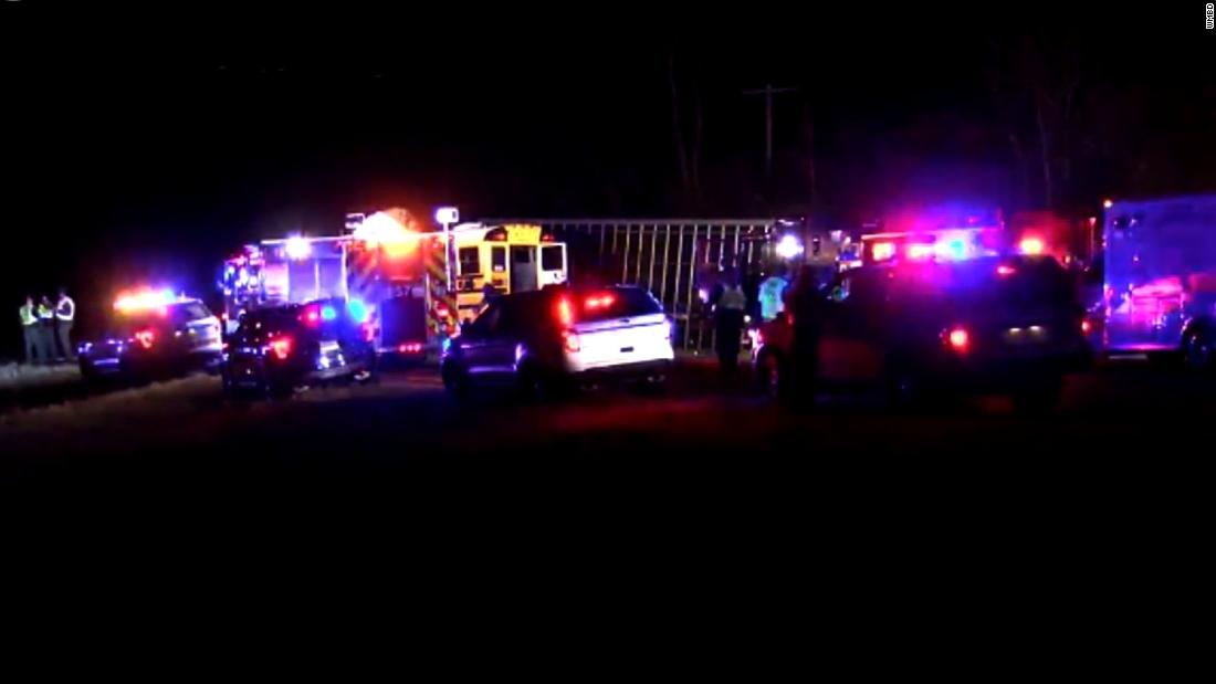 2 dead after school bus carrying girls basketball team and