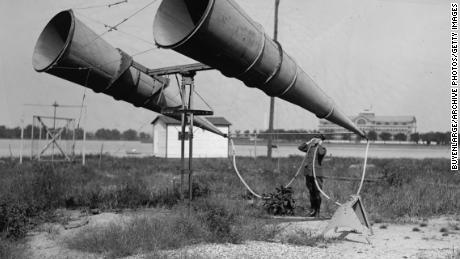 UNITED STATES - CIRCA 1921:  Bolling Air Field Horn Amplifiers  (Photo by Buyenlarge/Getty Images)