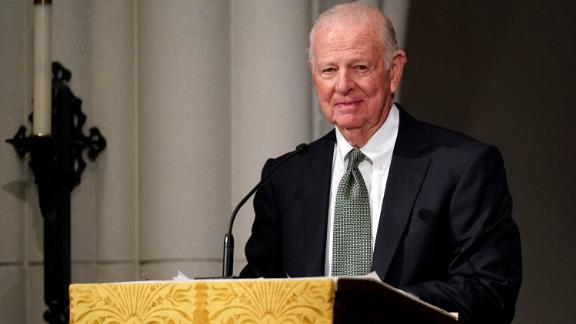 Former Secretary of State James Baker III gives a eulogy during the funeral for former President George H.W. Bush at St. Martin's Episcopal Church, Thursday, Dec. 6, 2018, in Houston. David J. Phillip/Pool via REUTERS