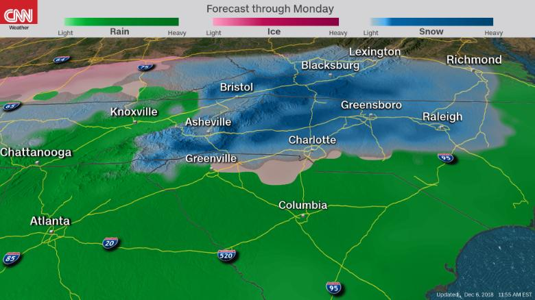 SNOW to blanket the South 181206122244-winter-weather-carolina-12062018-exlarge-169