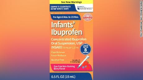 Infant ibuprofen sold by Family Dollar was recalled, as well as brands sold by Walmart and CVS.