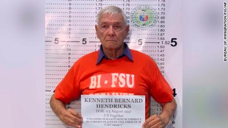 The Rev. Kenneth Bernard Hendricks was arrested in the Philippines on Wednesday.