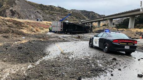 snow flooding and mudslides create traffic nightmare for