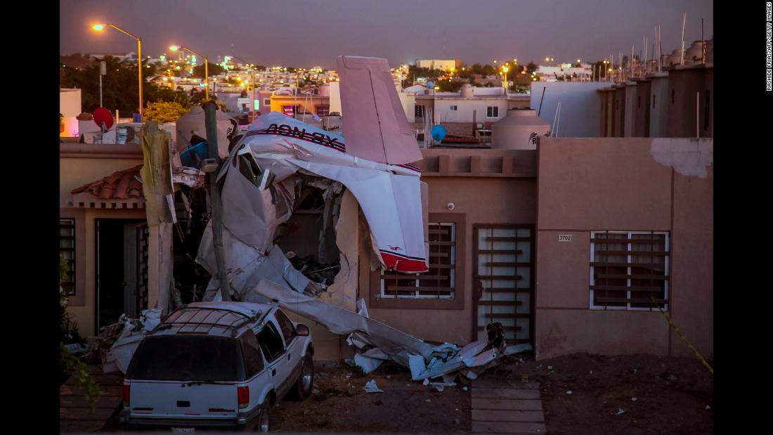 A small plane crashed into a residential area in Culiacan, Mexico, on Monday, December 3. Four people aboard the plane were killed, local authorities said, and two women on the ground were injured.