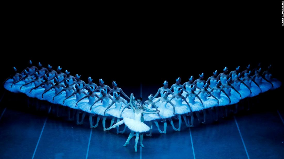 "The Shanghai Ballet performs in Berlin during a dress rehearsal of ""Swan Lake"" on Saturday, December 1."