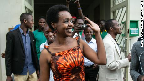 Diane Rwigara leaves Kigali's High Court after her acquittal last December.