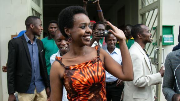 Diane Rwigara leaves Kigali's High Court after her acquittal last December.