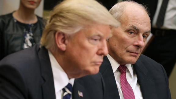 President Donald Trump (L) and outgoing White House chief of staff John Kelly (R) (Photo by Chip Somodevilla/Getty Images)