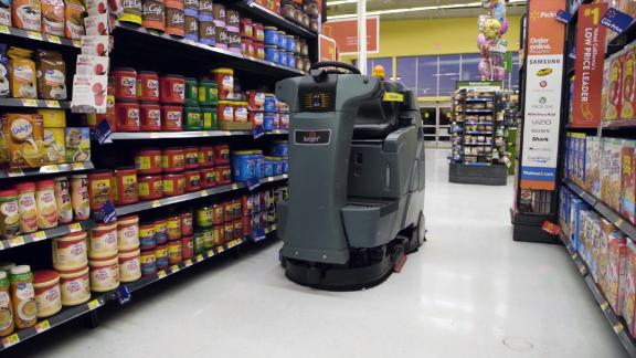 Walmart will deploy 920-pound autonomous floor scrubbers in 1,860 of its stores by next year.