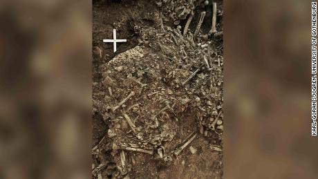 The remains of a 20-year-old woman who might have been killed by the first plague pandemic.