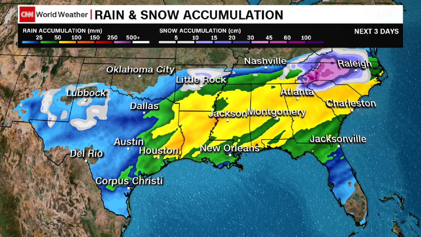 Fuerte tormenta invernal paraliza sureste de EE.UU