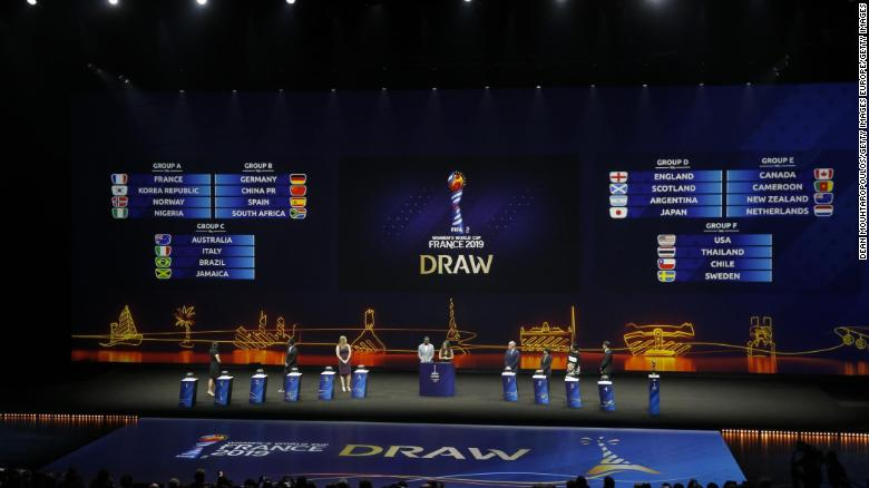 Saturday's draw took place at La Seine Musicale in Paris.