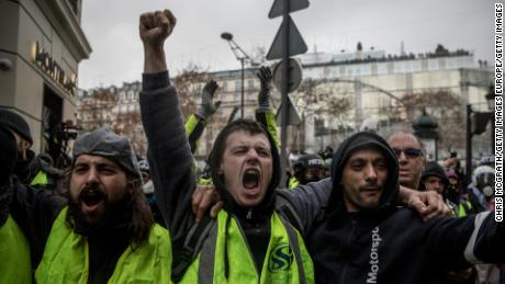 Image result for yellow shirt protests france