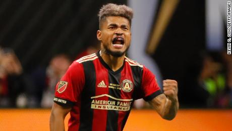 Josef Martinez scored Atlanta's first goal of the night. His 35 goals this year, spanning the regular season and postseason, are an MLS record.