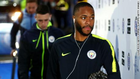 Raheem Sterling played in Manchester City's 2-0 defeat by Chelsea at Stamford Bridge on Saturday.