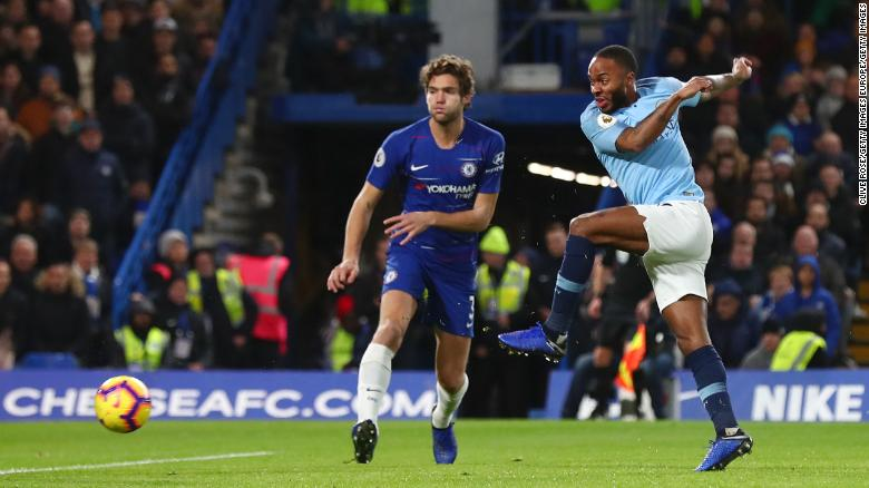 Sterling in action against Chelsea late last year.