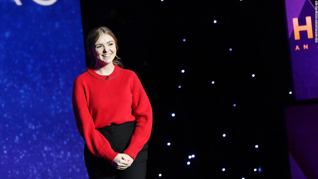 """Eighth Grade"" actress Elsie Fisher introduces one of the CNN Heroes Young Wonders."