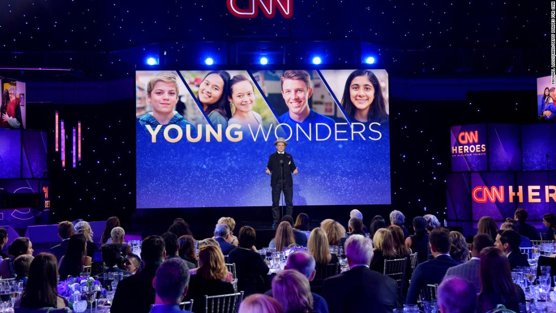 Actor John C. Reilly introduces CNN Heroes Young Wonder Liam Hannon, who provides free lunches to the homeless.