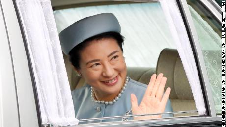 Crown Princess Masako is seen arriving at the Imperial Palace as she turns 55 on Sunday in Tokyo.