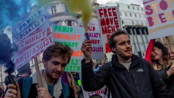 Both Remain and Leave protesters took to the streets of London again in separate demonstrations over the weekend.