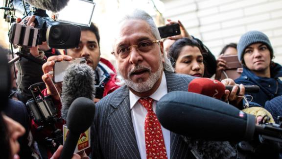 Indian businessman Vijay Mallya arrives for an extradition ruling at Westminster Magistrates Court on December 10, 2018.