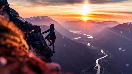 Kilian Jornet climbing sunset mountains Summits Of My Life