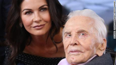 Catherine Zeta-Jones honors Kirk Douglas on his 102nd birthday