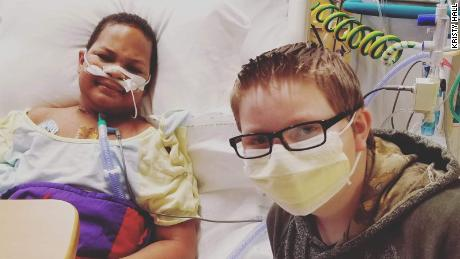 K.J. Gross and his best friend Kaleb Klakulak spent many weeks together in the hospital.
