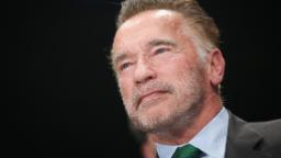 Shocking moment man dropkicks Arnold Schwarzenegger