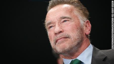 Arnold Schwarzenegger during COP 24, the 24th Conference of the Parties to the United Nations Framework Convention on Climate Change, which takes place on December 2-14. Katowice, Poland on 3 December, 2018.  (Photo by Beata Zawrzel/NurPhoto via Getty Images)