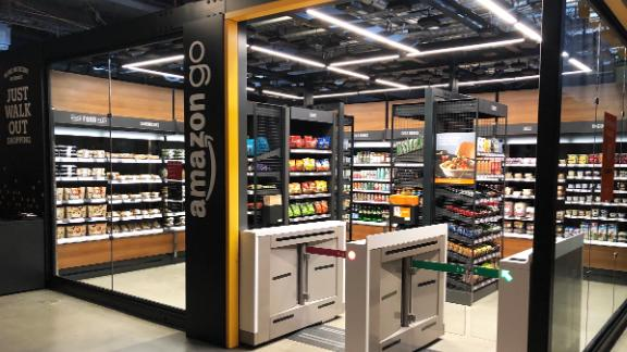 Amazon is rolling out a small-format version of its checkout-free shop, starting at its Seattle headquarters.
