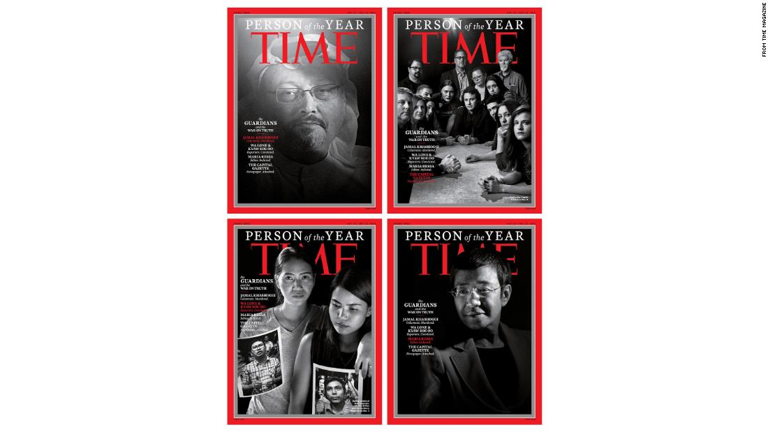 Jamal Khashoggi and journalists named Time Person of the Year