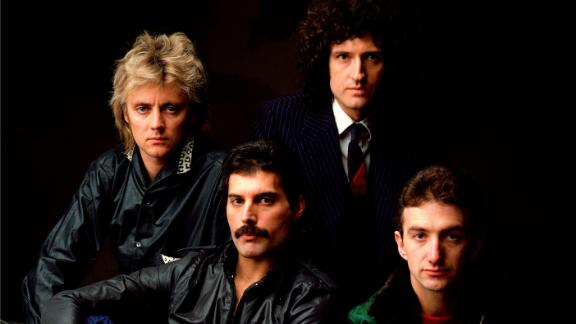 The British rock band Queen poses in an undated photo.
