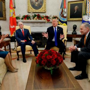 A play-by-play of the Pelosi-Schumer-Trump meeting, in GIFs