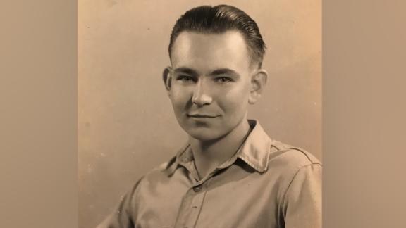 Former SS guard Johann Rehbogen, pictured in 1945 when he was a prisoner of war in the US. Credit: Johann Rehbogen family archive.