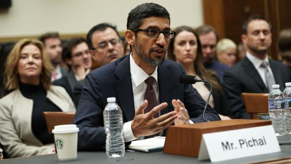 WASHINGTON, DC - DECEMBER 11: Google CEO Sundar Pichai testifies before the House Judiciary Committee at the Rayburn House Office Building on December 11, 2018 in Washington, DC. The committee held a hearing on 'Transparency