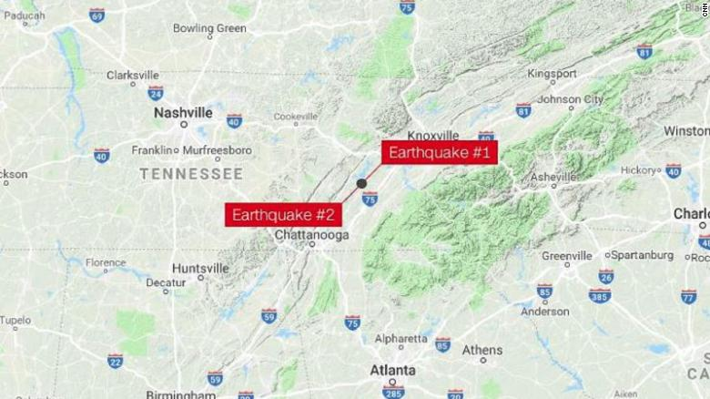 Earthquakes Shake Tennessee Georgia And Other Southeast States Cnn - Map-of-the-southeastern-us