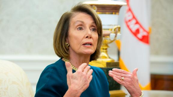 """Despite the disadvantage of her soft seat, Pelosi sat ramrod straight, projecting strength right back at Trump. When Trump said, """"Nancy is in a situation where it"""