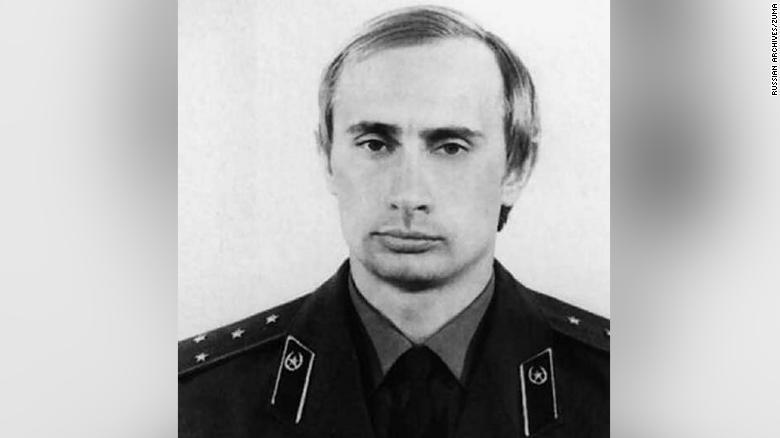 Putin in a KGB uniform, around 1980.