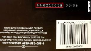 Lot numbers can be found on the bottom of the tampon packaging.