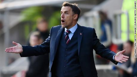Neville had been assistant coach at Manchester United and Valencia before taking the England job.