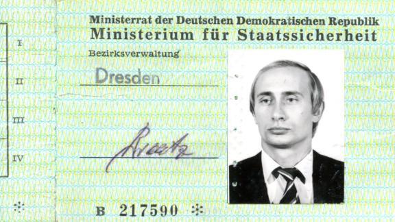 Vladimir Putin's Stasi ID card found in German archives