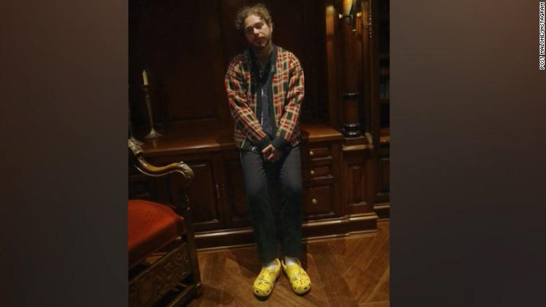 Image result for Post Malone Crocs sold out in minutes, again