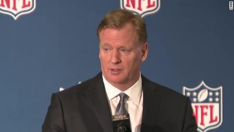 December 2018: Goodell defends NFL on domestic violence