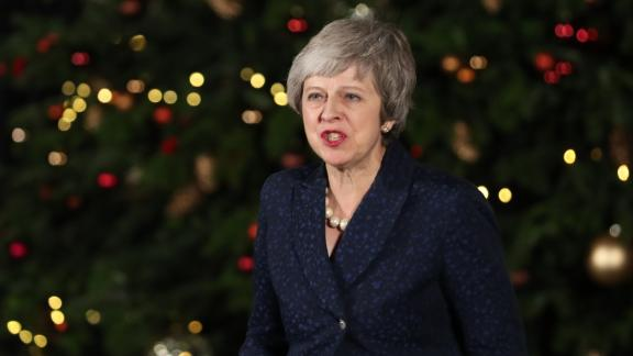"""May said the Conservative Party must """"now get on with the job of delivering Brexit."""""""
